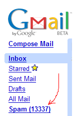 Gmail Spam Blocking is 13337